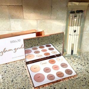 NIB Neutral Palette and Makeup Brush Set